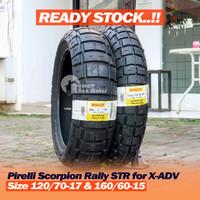 Paket Pirelli Scorpion Rally STR 120/70-17 & 160/60-15 Ban Honda X-ADV