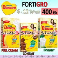 DANCOW Fortigro Instant / Cokelat / Full Cream - Susu Bubuk Anak 400Gr