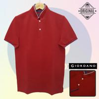 Polos M-LD98 Giordano Original POLO SHIRT PRIA KAOS KERAH Cowo Merah