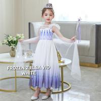 TOKYOBERRY FROZEN 2 ELSA VIO WHITE DRESS anak perempuan pesta gaun