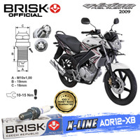 Busi Motor Brisk Premium Xline Tipe - AOR12-X8 Vixion 2009