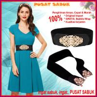 Belt Fashion Ikat Ban Pinggang Wanita Lak obi Gesper Sabuk Karet Besar