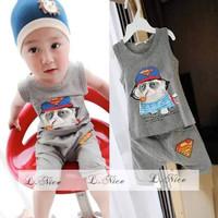 Baju Setelan Kutung Anak Impor ukuran 1-6tahun - Superman, 90