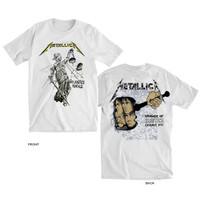 kaos METALLICA And Justice For All t shirt backprint band musik