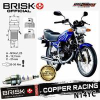 Busi Motor Brisk Copper Racing Tipe - N14YC