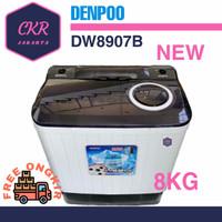 Mesin Cuci 2 Tabung Denpoo DW 8907B 4P (8KG)
