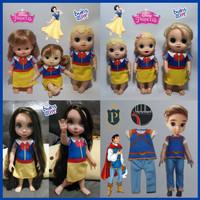 Baju Dress Kaos Baby Alive Kostum Princess Snow White Putri Salju