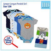 Jumper Carters 5 in 1 Baju Bayi Lengan Pendek - Size 12M