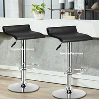 kursi bar/kursi/kursi tinggi/kursi cafe - Hitam