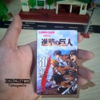 Kartu Foto Attack On Titan figure Levi mikasa action Lomo Photocard