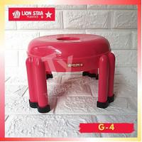 Bangku Jongkok Lion Star Kursi Pendek Plastik Round Stool. G-4