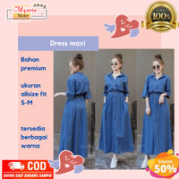 baju dress wanita korea maxi import casual gamis jeans terbaru murah