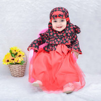 GAMIS KIMONO MAWAR fashion muslim anak gamis bayi babeebabyshop