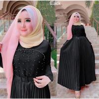 Gamis Muslim Terbaru Gamis Terbaru 2021 Baju Lebaran Premium Gamis Mur - Hitam