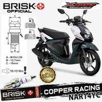 Busi Motor BRISK Copper racing Tipe - NAR14YC XRide