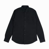 Kemeja Uniqlo Oxford Slim Fit Black Shirt Original