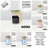 Lilin Aromaterapi Premium - Soy Candle - 50 gram - Naroma - Murah