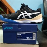 Sepatu Tenis ASICS Gel Resolution 8 Black/White