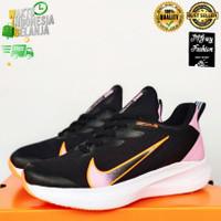 Sepatu Olahraga Nike Gradasi Ceklis Senam Aerobic Lari Running Wanita - Hitam Pink, 38