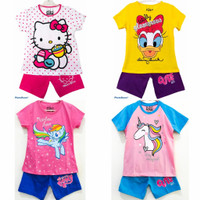 Setelan kaos baju anak perempuan size 1 2 3 4 5 6 7 8 9 10 tahun #2251