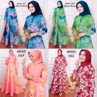 Gamis Jumbo Katun Jepang Muslim Baju Wanita Muslimah Big Size Murah