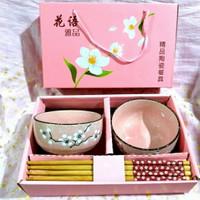 Gift Bowl and Chopstick Set 2 / Hamper / Mangkok Kado / Parsel Ramadan