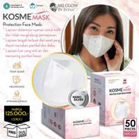 MS Glow - 1 Box Masker Kosme Mask Fitmask Nano Silver Masker Kesehatan