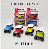 Diecast Mobil Jeep Offroad Metal - Miniatur Mobil Jeep Offroad Metal - warna random