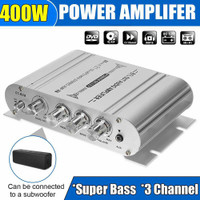 Amplifier Lepy HiFi Stereo Treble Bass Booster LP-838-Silver