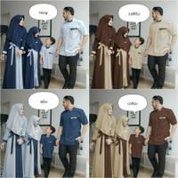 baju muslim keluarga - couple gamis syari koko - couple family