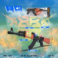 BRO1146 AK47 Mainan Anak Pistol Pistolan Tembak Tembakan Baterai SUARA