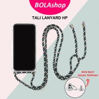 Strap Tali Lanyard HP   Sling Cross Body Phone Strap Mur Baut - TALI HIJAU TUA