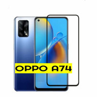 For Oppo A74 2021 Antigores Kaca/Temperglass Full Cover/Full Glue