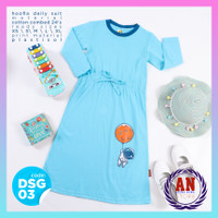 Gamis Kaos Anak Perempuan Daily Suit Anak Perempuan HOOFLA Kids - DSG