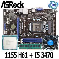 Paket Motherboard Intel LGA 1155 H61 ASROCK Plus Processor I5 3470