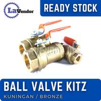 1 inch ball valve kitz kuningan (bronze)