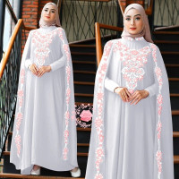 Kaftan bidara putih baju muslim pesta lebaran jumbo murah bida gb