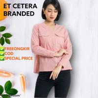 Blouse Etcetera Pink/ Baju Hijab Branded
