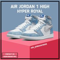 Sepatu Nike Air Jordan 1 High OG HYPER ROYAL 100% Authentic - 42