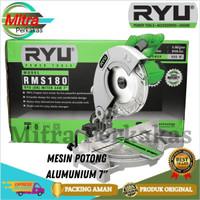Miter saw RYU RMS180 7 Mitersaw mini potong alumunium RMS 180 7 inch