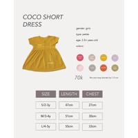 Cocopop Baby COCO Short Dress ( Baju Polos Kaos Katun Anak Cotton Warn