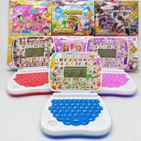 mainan anak edukasi laptop mini 4 bahasa + layar
