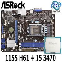mainboard LGA 1155 H61 Asrock + Processor Core I5 3470 mobo