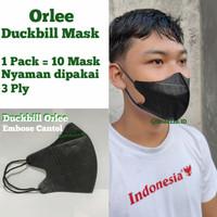 Masker Duckbill Orlee Original 100% Indonesia 3Play 3 Play Medis Earlo