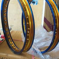 Velg TDR W Shape Two Tone Set 160/185 Ring 17 Bluegold (2 pcs)