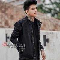 Jaket Pria The Riddick Fj02 hitam jaket model terbaru - Hitam, L