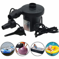 Pompa Angin Elektrik Kompresor Mini Balon Kasur Kolam Angin