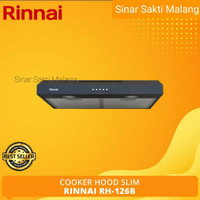Cooker Hood Rinnai RH-126B Slim Penghisap Asap Kompor Dapur RB 126 B