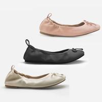 La Vita E Bella Ballerina Foldable Flat Shoes Wanita LV 9104 - Pink
