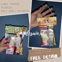 Label Bingkisan Lebaran 10x8   Label Plastik Snack Custom